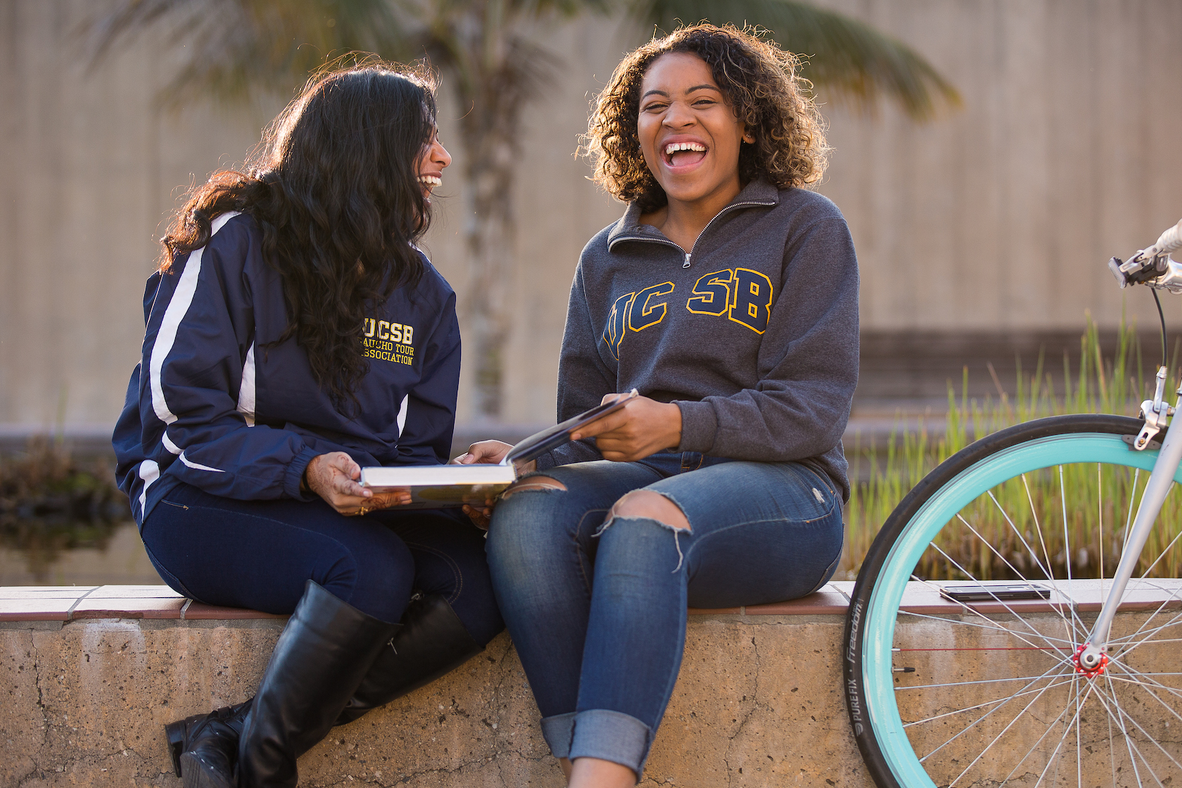 ucsb students laughing